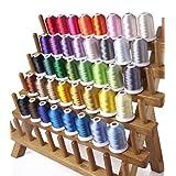 カラー糸 ミシン刺しゅう糸50番 (40色/各1000m) ミシン糸 手縫い飾り糸 DIY刺繍糸 家庭ミシン糸