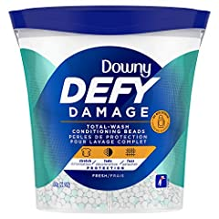 Get total-wash protection, with consistent use, from stretching, fading and fuzzing with Downy defy damage fabric softener beads Keeps clothes looking newer, longer (vs. Detergent alone) when used over time, by protecting them from damage that can ha...