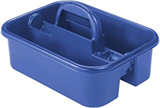 Akro-Mils 09185 Plastic Tote Tool & Supply Cleaning Caddy with Handle, (18-3/8-Inch x 13-7/8-Inch x 9-Inch), Blue