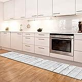 Alfombra Cocina y baño Lavable Antideslizante alfombras de Vinilo 50x180 Made in Italy para Decorar tu habitacion Design Italiano
