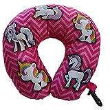 HALO NATION® Unicorn Zigzag U Shaped Travel Pillow Neck Support Head Rest Airplane