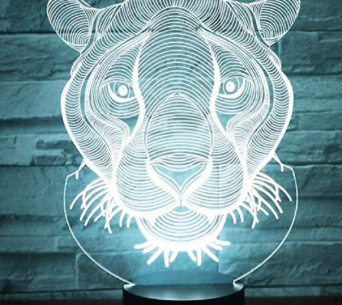 Luces De Noche Led 3D León Con Luz De 7 Colores Para Lámpara De Decoración Del Hogar Visualización Increíble Ilusión Óptica Impresionante