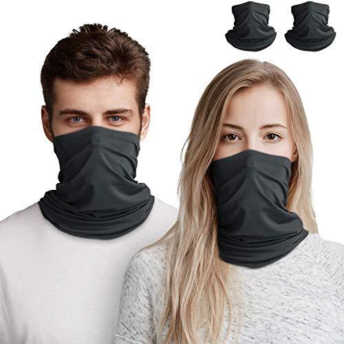 2 st bandana ansiktsmask för män/kvinnor, unisex multifunktionell halsvärmare damask, utomhusscarf balaclava UV-skydd andas tvättbar huvudbonad halsband pannband för cykling motorcykel löpning