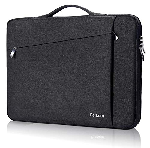 Ferkurn 13 13.5 Laptop Sleeve Carrying Case Compatible with 13 13.3 inch MacBook Air 2019 2018 Mac A1932 A1466, Old、New MacBook Pro Touch Bar A2159 A1989 A1706 A1708 A1502, Surface Pro Case Black