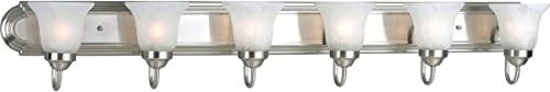 wholesale Progress Lighting P3056-09 Traditional Four high quality Bath from Madison Collection in Pewter, Silver Finish Lighting Accessory, 48-Inch 2021 Width x 7-1/4-Inch Height, Brushed Nickel online sale