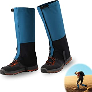 Wolfyok Hiking Leg Gaiters Sandproof Shoes Cover Protection Waterproof Snow Boot Gaiters for Outdoor Walking Skiing Camping Hunting Climbing Mountain Trimming Grass for Men Women