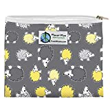 Planet Wise Reusable Zipper Sandwich and Snack Bags, Sandwich, Hedgehog Poly