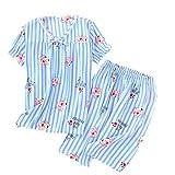 N\P Pijama para mujer, pantalones cortos, ropa de noche, pantalones cortos, ropa casual. Pijamas japoneses para mujer. azul2 XL