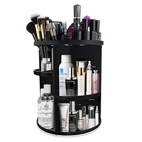 KABB Make-up-Organizer, 360 Grad drehbar, verstellbar, 7 Schichten, multifunktionale Kosmetik-Aufbewahrungsbox mit oberer Ablage, kompakte Größe mit großer Kapazität