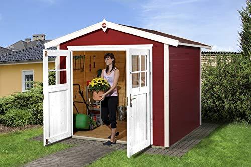 Weka Gartenhaus Rot 224, schwedenrot, 280 x...