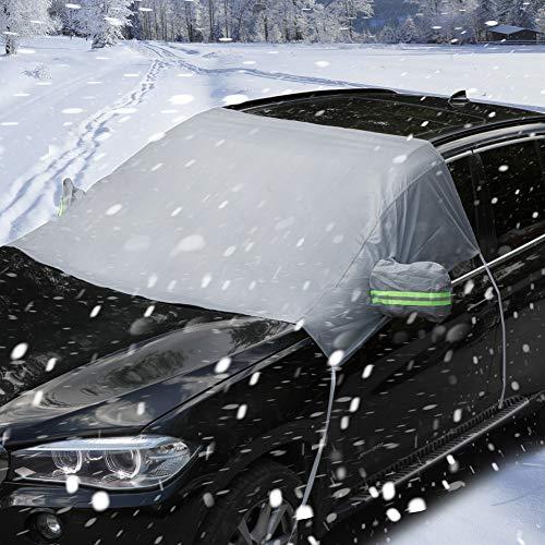 Auto Abdeckung Scheibenschutz Frostabdeckung Windschutzscheiben Winterschutz Scheibenabdeckung Winterabdeckung Frontscheibe Eisschutz Schneeschutz Scheibenfrostschutz gegen Schnee, EIS, Frost