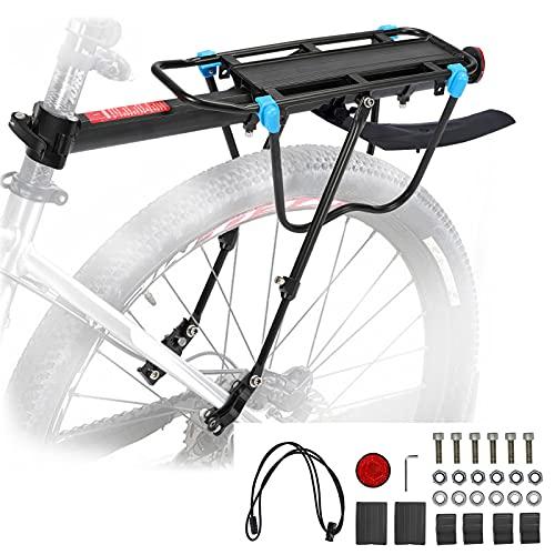 MAIKEHIGH Portabultos Bicicleta Trasero Carga 50KG, Liberación Rápida Ajustable Portaequipajes Bici Estante...