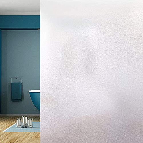 LEBENSWERT Fensterfolie Selbsthaftende Milchglasfolie Blickdichte Sichtschutzfolie Statisch Haftend Anti-UV für Büro Wohnzimmer Schlafzimmer Matt (90 x 200 cm)