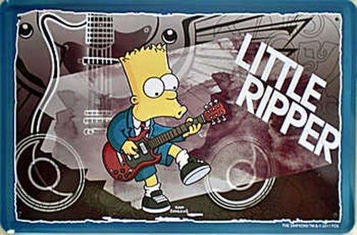Unbekannt Blechschild The Simpsons Bart Little Ripper 16
