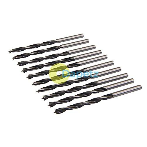 Daptez  10Pk Lip & Spur Drill Bits 4mm Durable Sharp Precision Drill Work On Wood DIY