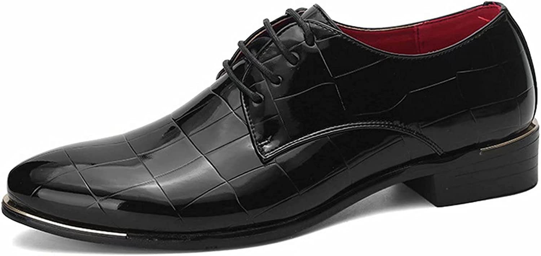 Men Fashion Dress Shoes Leather Brogue Mens Flats Shoes Casual British Style Men Oxfords