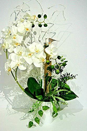 tatjana-land-deko Exk. Orchidee Kunstblume Tischdeko Büro Dekoration Arrangement Gesteck LN34