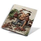 Homme luttant contre la noix de coco crabe livre couvre-livre protecteurs de livre réutilisable douille imperméable fournitures scolaires 9 x 11 pouces