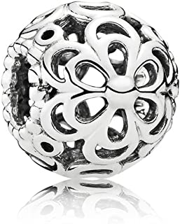 Women's Genuine Sterling Picking Daisies Charm 790965, Silver