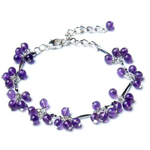 Betterdecor Feng Shui Handmade Amethyst Beads Bracelet...