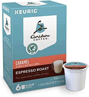 Caribou Keurig Coffee K Cups Pods 6/16 / 24 Count Capsules Sleeves ALL FLAVORS SEALED IN BOX (6 Pods Caramel Espresso Roast)