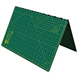 ANSIO Craft Cutting mat A2 Self Healing Foldable Cutting Mat - Quilting, Sewing, Scrapbooking, Fabric & Papercraft - Imperial 23 Inch x 17 Inch - Green
