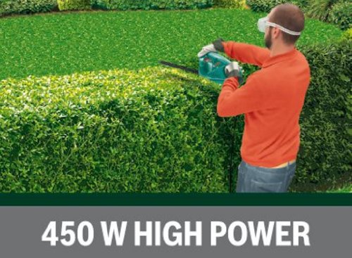 BOSCH 0600847D70, AHS 60-16 Electric Hedge Cutter, 600 mm Blade Length, 16 mm Tooth Opening, Green
