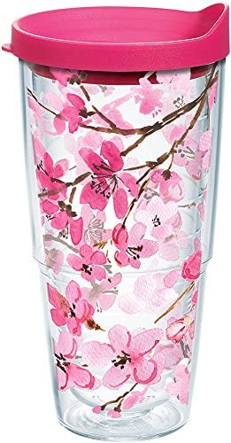 Tervis Japanese Cherry Blossom Tumbler With Lid 24 oz Clear product image