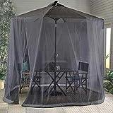 Portátil Parasol Mosquito Net Cover Netting Gazebo Canopy, Zipper Apertura y Tubo de Agua en Base - Excluyendo Paraguas y Fundación MISU