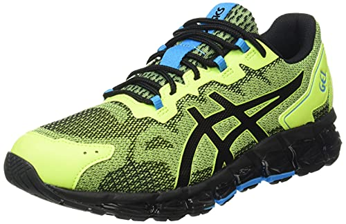 ASICS Gel-Quantum 360 6, Running Shoe Homme, Hazard Green/Black, 43.5 EU