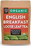 Organic English Breakfast Loose Leaf Tea | Brew 200 Cups | Blended in USA | 16oz/453g Resealable...