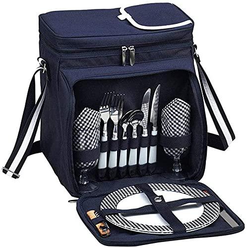 BOSKING Bolsa térmica aislada impermeable al aire libre Vajilla bolsa de almacenamiento bolsas de almuerzo caja de picnic cesta para picnic playa viaje camping barbacoa