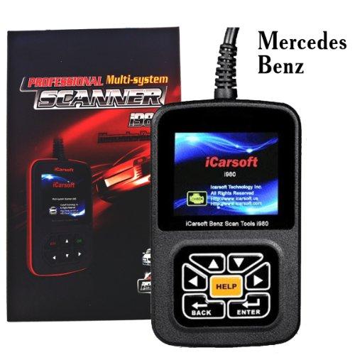 ODB2 Diagnosegerät i980 Mercedes Benz KFZ Code Scanner (Fehlercodes lesen/löschen, Airbag, Motor, ABS etc.)
