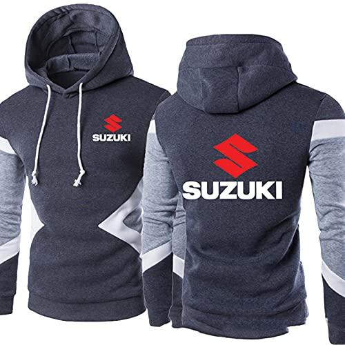Suelta Y Otoño Chaqueta Su-Zuki Set Suéter Conjunto Colores Suéter con Capucha Deportes Casual Hombre con Capucha para Hombres Sudadera Cálida Jogging