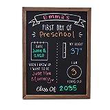 First Day of School Board | Reusable Chalkboard First Day of School Sign | 12' x 16' Wood Framed School Chalkboard Sign | First Day of Preschool | Back to School Photo Prop Board