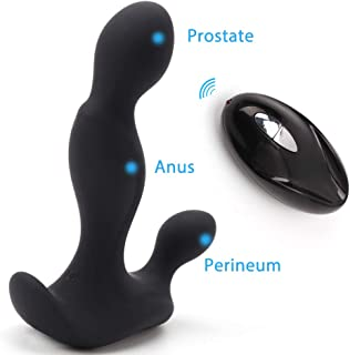 P-Spot Massager with Wireless Remote Control, Anal Vibrator, Sex Things for Men, Prostate Stimulator, Personal Wand Massager, Electric Gay Vibrant Toy, 7 Vibration Modes, USB Rechargeable, Waterproof