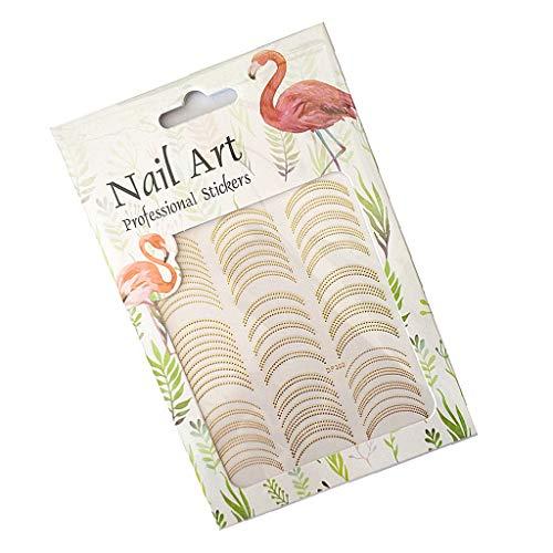 MERIGLARE Golden 3D Nail Art Stickers Adhésif Brillant Décorations Manucure Autocollants - #1