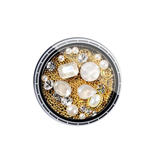 YUYOUG Mode DIY Bijoux 3D Strass Diamants colorés Nail Art Décoration (C)