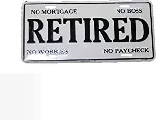 Retired Front Front Funny License Plate 6x12