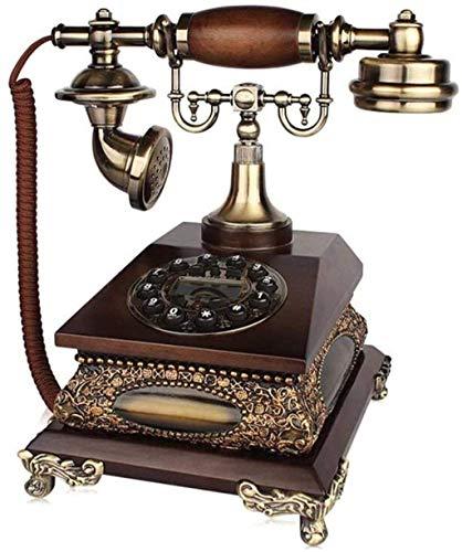 LDDZB Teléfono retro, teléfono fijo europeo, teléfono retro, versión de marcación fija y mecánico, A (color: A) (color: A)