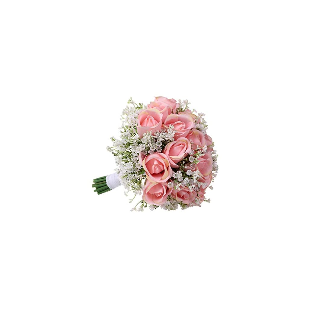 Liyeehao Delicate Environmentally Friendly Gypsophila Bouquets, Exquisite Design Bridal Bouquets, for Party Home a Gift Church