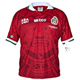 ABA Sport Mexico Red Authentic Special Edition 1998 World Cup Soccer Jersey (Small)