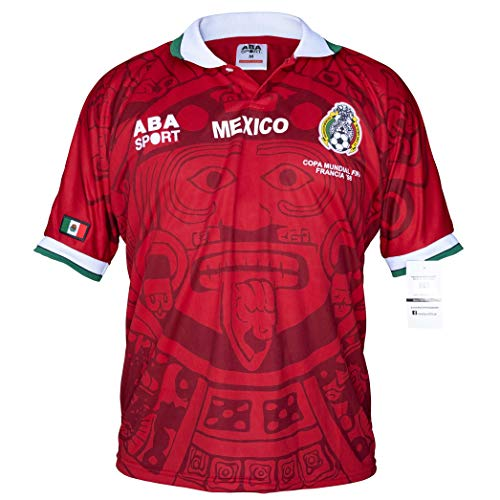 ABA Sport Mexico Red Authentic Special Edition 1998 World Cup Soccer Jersey (Large)