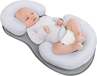 Baby Lounger Pillow, Adjustable Portable Newborn Nest Bed Mattress with Ultra Soft Breathable Cotton for Comfortable Slee...