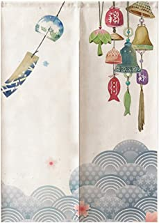 IMIKEYA Home Doorway Curtain Japanese Traditional Door Curtain Tapestry Polyester Wind Chimes Bedroom Divider Drapes Doorw...