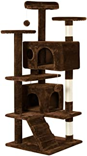 Yaheetech 51in Cat Tree Tower Condo Furniture Scratch Post for Kittens Pet House Play