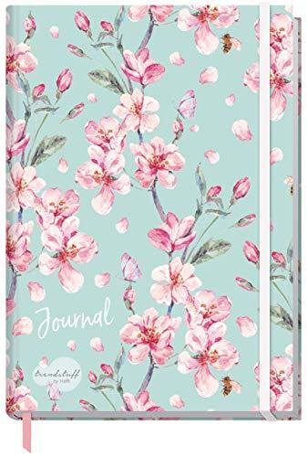 Trendstuff by Häfft Bullet Journal - Cuaderno de notas (A5, con banda de goma [Floral], elegante, robusto, flexible, funda lavable)