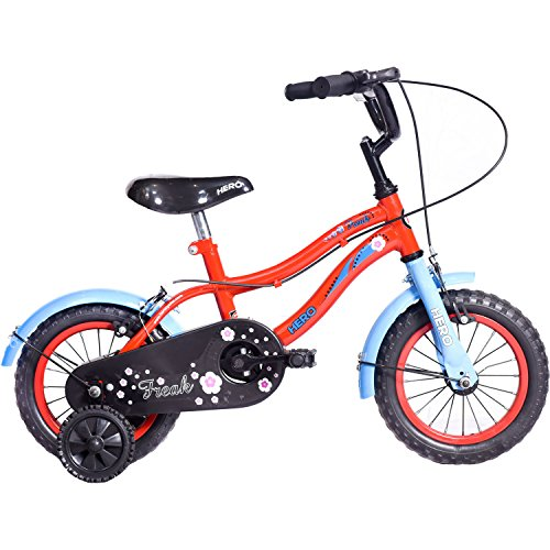 Hero Freak 12T Single Speed Cycle (Red/Blue) - Without Backrest