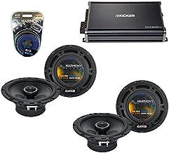Compatible with Jeep Wrangler 2007-2014 OEM Speaker Replacement Harmony (2) R65 & CXA300.4 Amp (Renewed)
