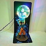 Mesa modelo DIY Anime Dragon Ball Lámpara Goku Fuerza Bombas Creativas Lámpara De Mesa Iluminación Decorativa Ni?os Bebé LED Luz De La Noche Para Los Ni?os
